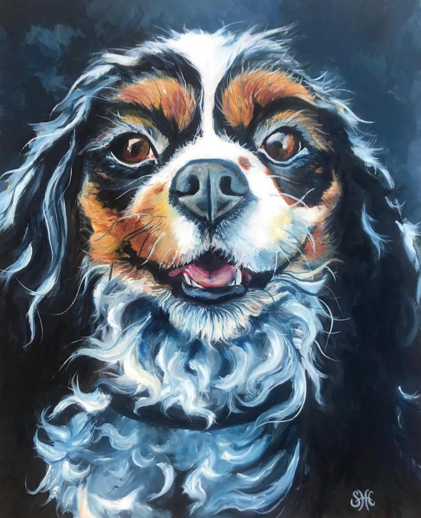 """[SOLD] """"Sadie"""" 20"""" x 16"""" Oil on Canvas - Commission Piece Prints Available"""