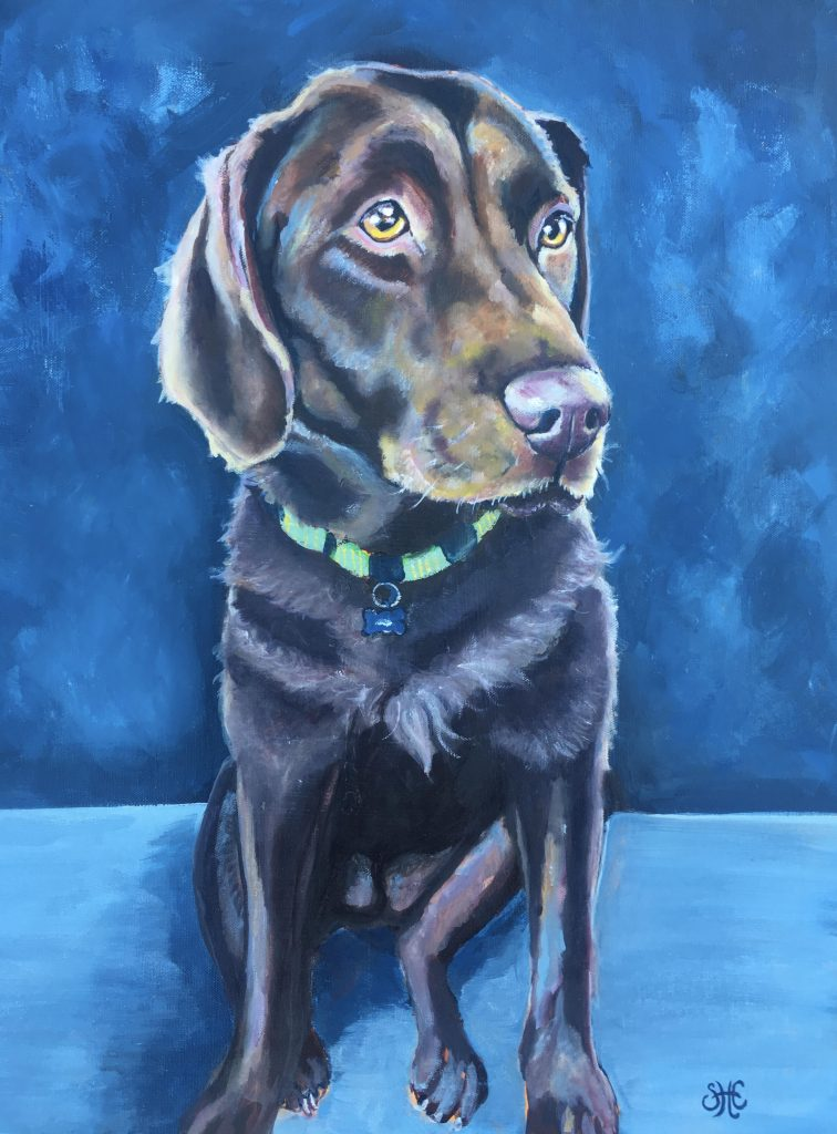 """[SOLD] """"Sophie,"""" 20"""" x 16"""" Oil on Canvas - Commission Piece Prints Available"""
