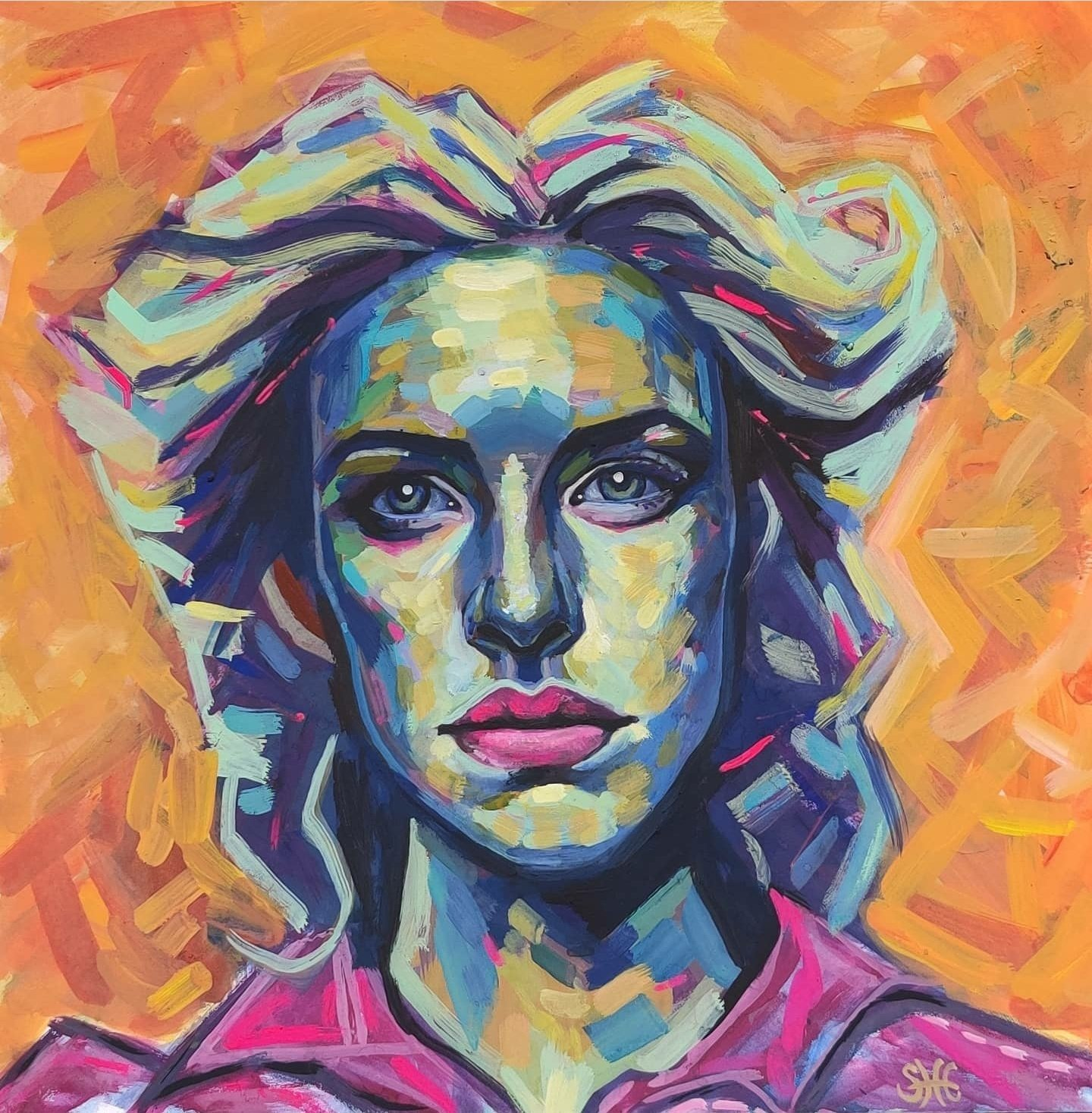 Woman in Gouache, 12x12, Gouache on Illustration Board, $500